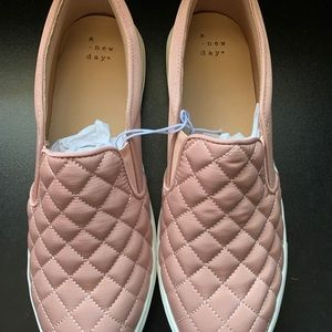NEW • a new day • blush slip ons • size 9.5